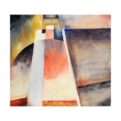 An Abstracted Watercolour Landscape-clivewa-Art Print