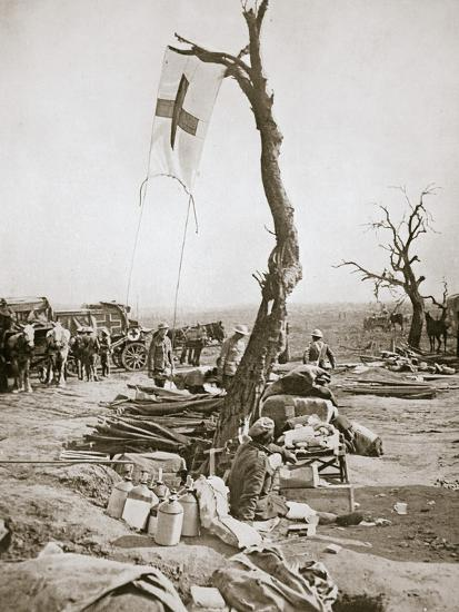 An advanced dressing station, Somme campaign, France, World War I, 1916-Unknown-Photographic Print