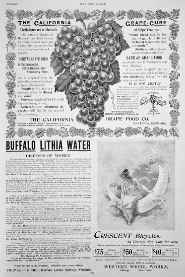 An Advertising Page in Harper's Bazar, Easter, 1894--Giclee Print