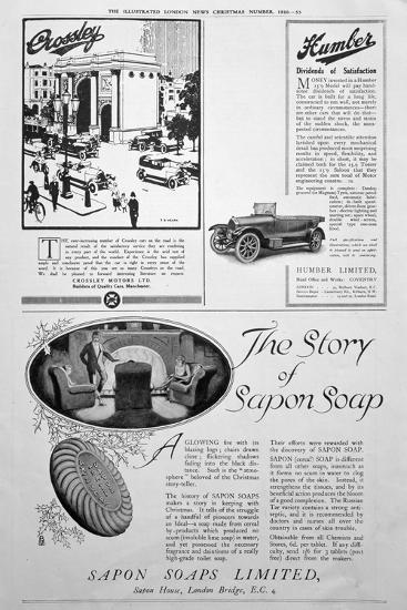 An Advertising Page in the Illustrated London News, Christmas Number, 1920--Giclee Print