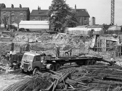 An Aec Mammoth Major on the Building Site for Sheffield University, 1960-Michael Walters-Photographic Print