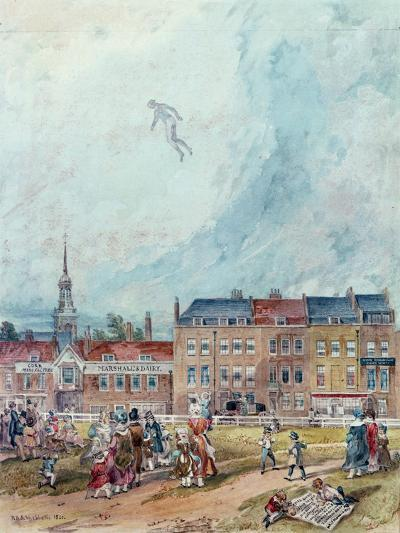 An Aerial Guy Fawkes, 1840--Giclee Print