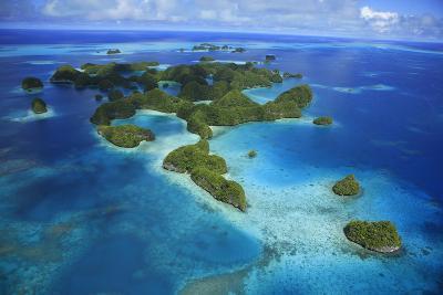 An Aerial Photo of Palau's Rock Islands-Stephen Alvarez-Photographic Print