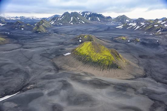 An Aerial View of a Canyon in the Interior of Southern Iceland-Keith Ladzinski-Photographic Print