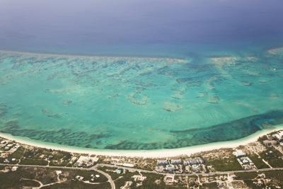 An Aerial View of Grace Bay and the Reef System of Providenciales Island-Mike Theiss-Photographic Print