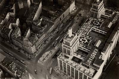 An Aerial View of Hermannplatz, Berlin Neukoelln, from 'Zeppelin-Weltfahrten'--Photographic Print
