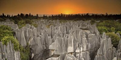 An Aerial View of Limestone Karst Formations in Stone Forest-Chad Copeland-Photographic Print