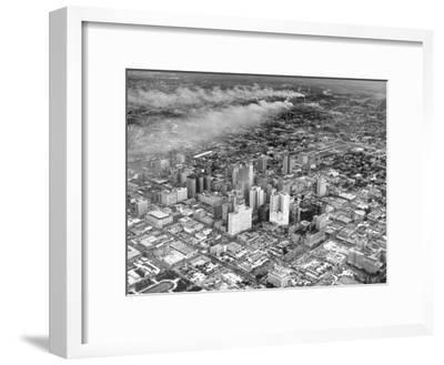 An Aerial View of the City Houston-Dmitri Kessel-Framed Premium Photographic Print
