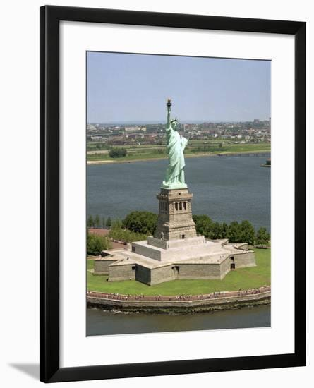 An Aerial View of the Statue of Liberty-Stocktrek Images-Framed Photographic Print