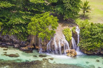 An Aerial View of Waterfalls in Ocho Rios, on the North Coast of Jamaica-Mike Theiss-Photographic Print