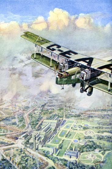 An Aeroplane over London, 1926-GH Davis-Giclee Print