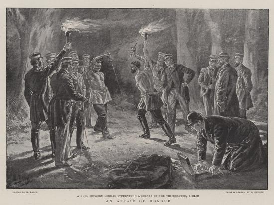 An Affair of Honour-Henri Lanos-Giclee Print