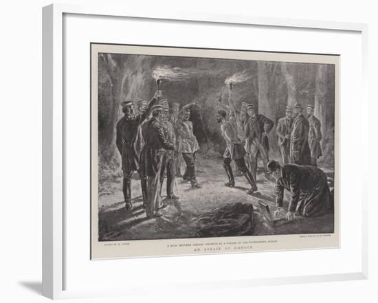 An Affair of Honour-Henri Lanos-Framed Giclee Print