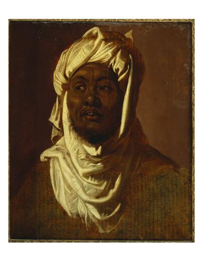 An African Wearing a Turban - a Sketch-Peter Paul Rubens-Giclee Print