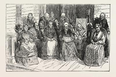 An After-Tea Chat at the Isabella Home, Long Island, 1876, USA, America, United States--Giclee Print