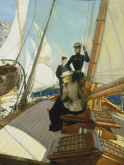 An Afternoon on the Sailing Boat-Albert Lynch-Giclee Print
