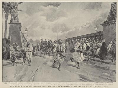 An Afternoon Scene on the Kasr-En-Neel Bridge, Cairo-Oswaldo Tofani-Giclee Print