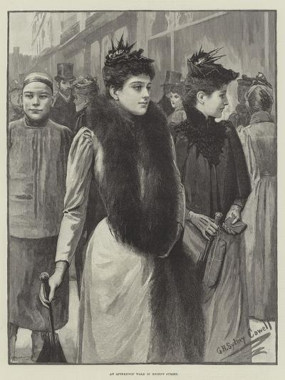 An Afternoon Walk in Regent Street--Giclee Print