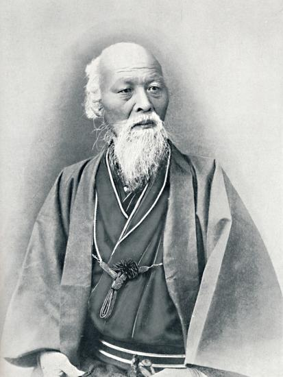 An aged Japanese doctor in full dress costume, 1902-Unknown-Photographic Print