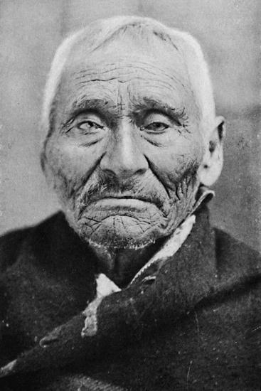 An aged Tlingit Indian of Alaska, 1912-Unknown-Photographic Print