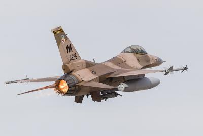 An Aggressor F-16C Fighting Falcon of the U.S. Air Force-Stocktrek Images-Photographic Print