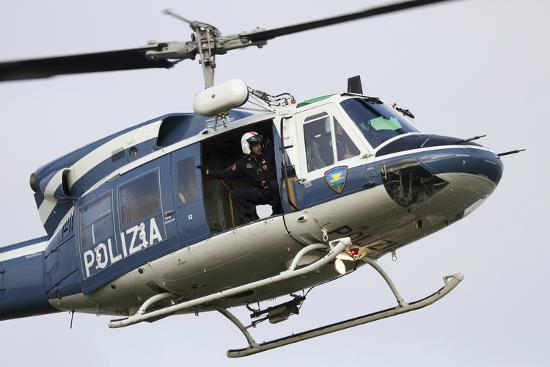 An Agusta Bell 212 of Italy's State Police in Flight over Italy-Stocktrek Images-Photographic Print