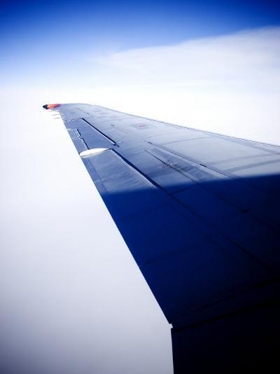 An Airplane Wing--Photographic Print