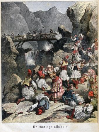 An Albanian Marriage, 1892--Giclee Print