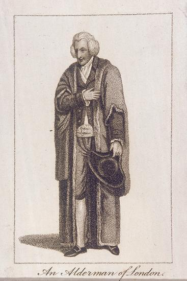 An Alderman of the City of London in Civic Costume, 1805--Giclee Print