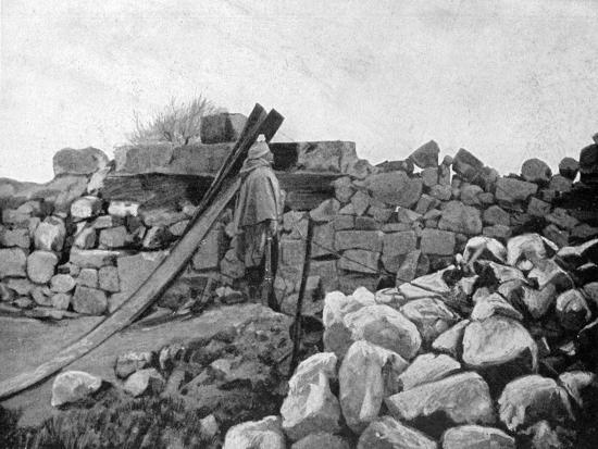 An Algerian Soldier on Sentry Duty, Artois, France, 1915--Giclee Print