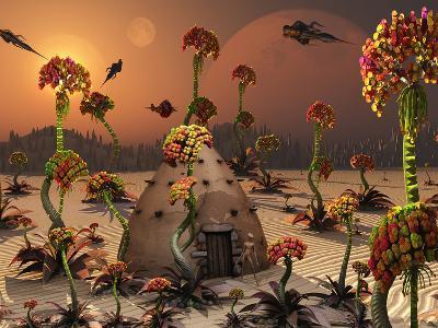 An Alien Landscape Where the Plants Reach Enormous Sizes-Stocktrek Images-Photographic Print