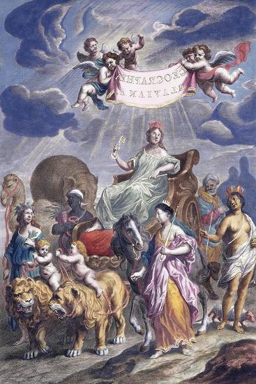 An Allegorical Plate with Title-Joan Blaeu-Giclee Print