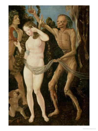 An Allegory of Death and Beauty-Hans Baldung Grien-Giclee Print