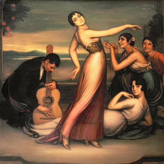 An Allegory of Happiness-Julio Romero de Torres-Giclee Print