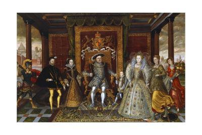 An Allegory of the Tudor Succession: the Family of Henry VII--Giclee Print