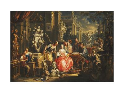 An Allegory of the Visual Arts-Johann Georg Platzer-Giclee Print