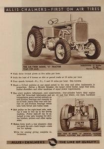An Allis Chalmers Air-Tired Model U Tractor