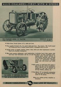 An Allis Chalmers Standard Model U Tractor