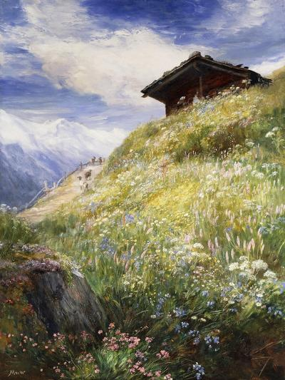 An Alpine Meadow, Switzerland-John MacWhirter-Giclee Print