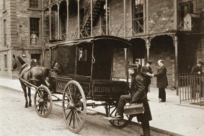 An Ambulance at Bellevue Hospital, New York City, 1896--Giclee Print