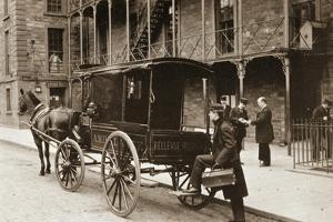 An Ambulance at Bellevue Hospital, New York City, 1896