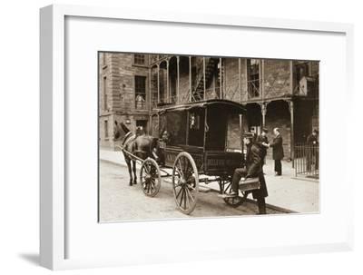 An Ambulance at Bellevue Hospital, New York City, 1896