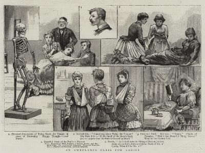 An Ambulance Class for Ladies--Giclee Print