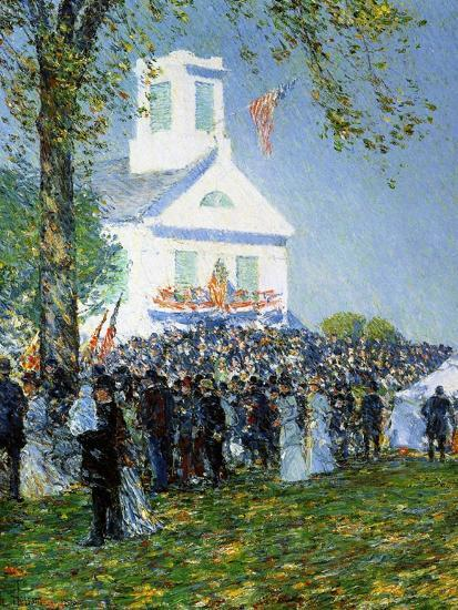 An American Country Fair, 1890-Childe Hassam-Giclee Print