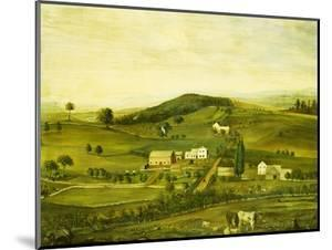 An American Farm: Fall View from the East, American School, 19th Century