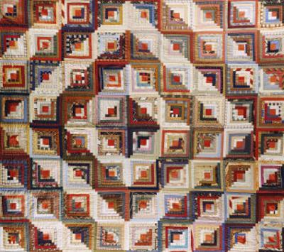An Amish Pieced & Quilted Cotton Coverlet, Late 19th/Early 20th Century