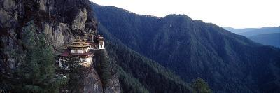 An Ancient Buddhist Monastery Perched on a Sheer Cliff Face in the Himalaya-Jason Edwards-Photographic Print