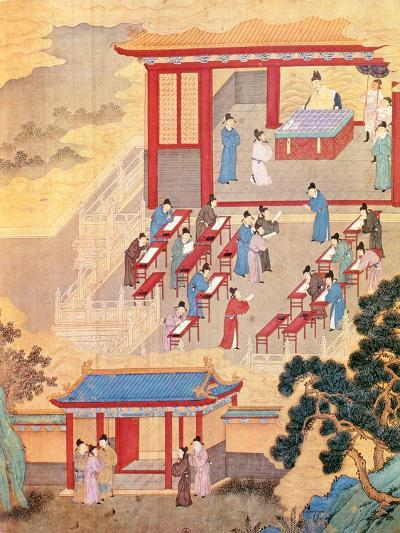 An Ancient Chinese Public Examination, Facsimile of Original Chinese Scroll--Giclee Print