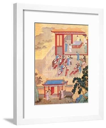 An Ancient Chinese Public Examination, Facsimile of Original Chinese Scroll--Framed Giclee Print