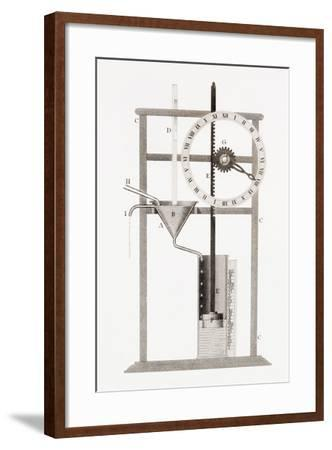 An Ancient Clepsydra or Water Clock. from the Cyclopaedia or Universal Dictionary of Arts,…--Framed Giclee Print